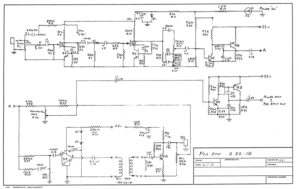 Links to Acoustic ACC schematics TalkBass com