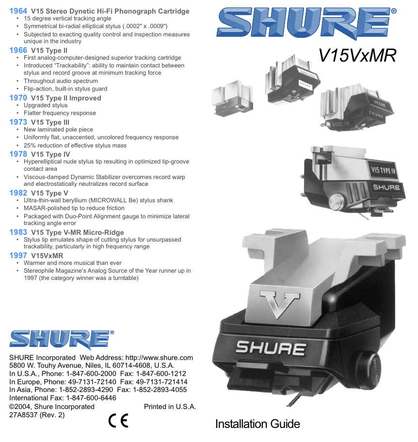The Shure V15VxMR Revisited: What A Great Phono Cartridge