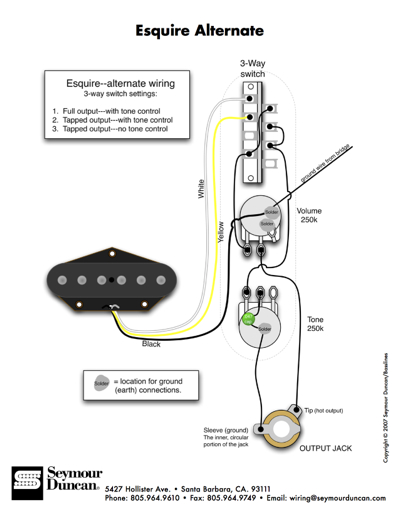 Seymour Duncan Esquire Wiring Diagram : Seymour duncan telecaster wiring diagrams get free image